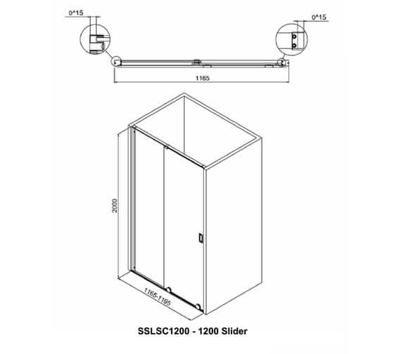 Technical drawing QS-V9381 / SSLSC1200
