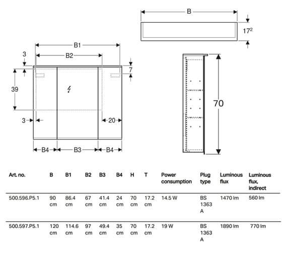 Technical drawing QS-V93726 / 500.596.P5.1