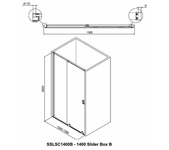 Additional image of Crosswater Svelte Single Slider Shower Door 1200mm