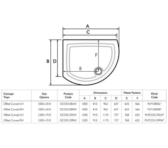 Technical drawing QS-V32104 / DCOS108LW