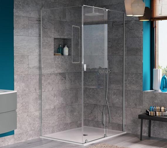 Alternate image of Crosswater Svelte Single Slider Shower Door 1200mm