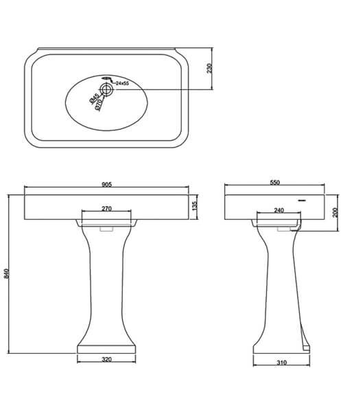 Technical drawing QS-V95463 / ARC900 NTH