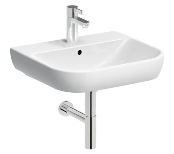 Geberit Smyle 1 Tap-Hole Washbasin White
