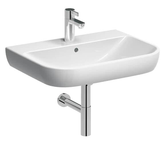 Additional image of Geberit Smyle 1 Tap-Hole Washbasin White