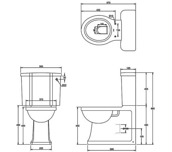Technical drawing QS-V95466 / ARC4