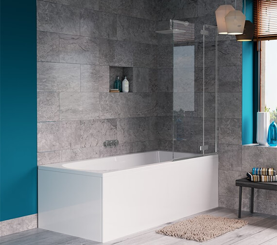 Crosswater Svelte 900 x 1500mm Single Bath Screen