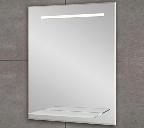 Bathroom Origins Fusion Light Backlit LED Mirror With Shelf - B004716