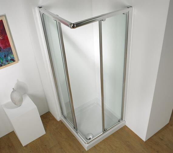 Kudos Original 1850mm High Corner Access Straight Sliding Shower Door