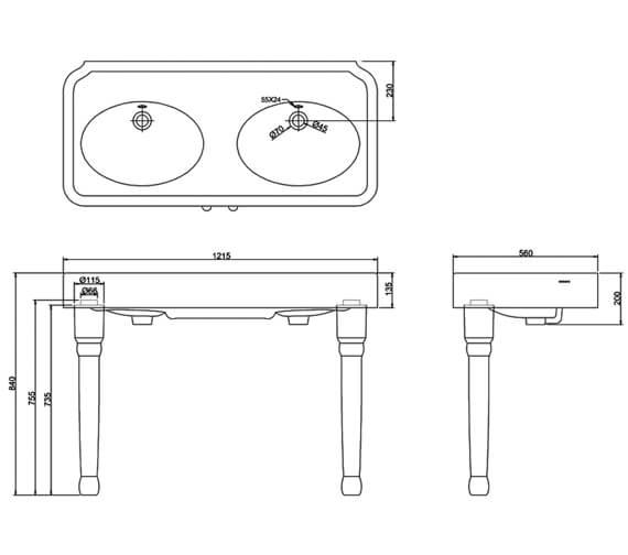 Technical drawing QS-V95464 / ARC1200 NTH