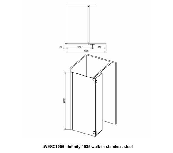 Technical drawing QS-V99557 / IWESC1050