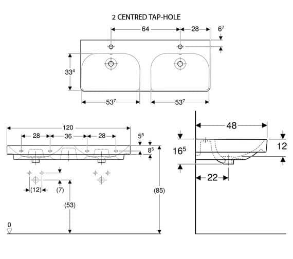 Technical drawing QS-V93734 / 500.223.01.1