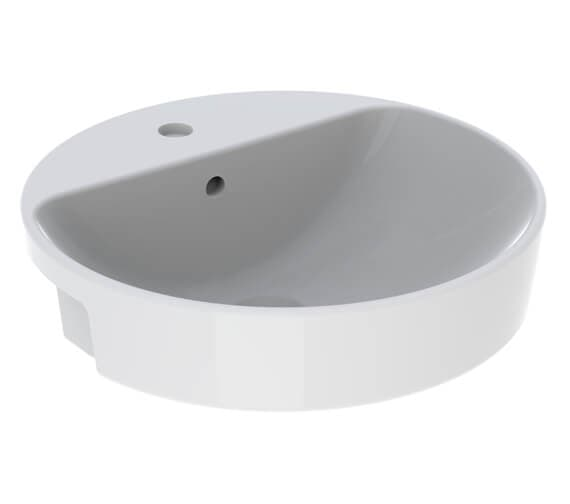 Geberit Variform 500mm Round Semirecessed Washbasin With Tap Ledge