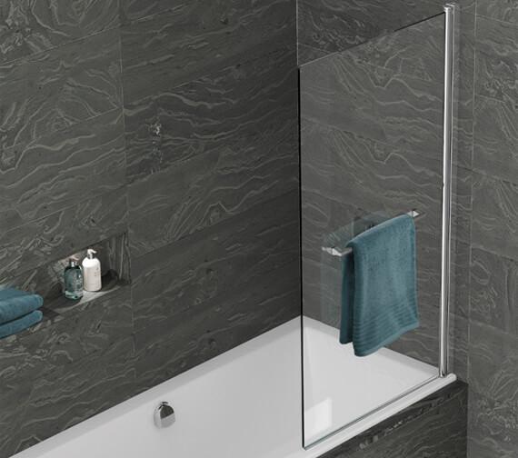 Kudos Inspire 850 x 1500mm Single Panel Bath Screen