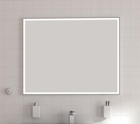 Bathroom Origins Aluminium Light Framed Backlit LED Mirror - 161126