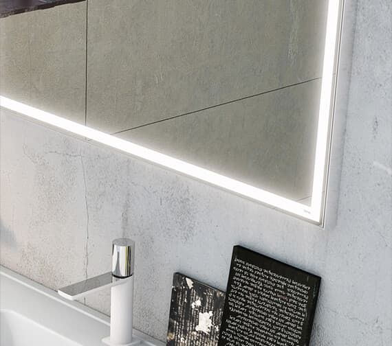 Alternate image of Bathroom Origins Aluminium Light Framed Backlit LED Mirror - 161126