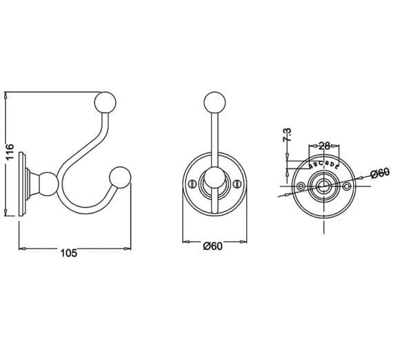 Technical drawing QS-V95472 / ARCA4 NKL