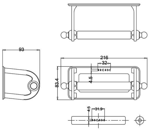 Technical drawing QS-V95473 / ARCA5 CHR