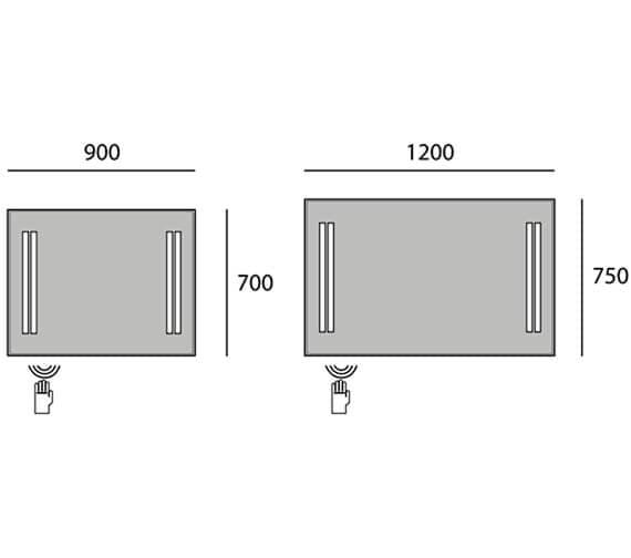 Technical drawing QS-V95590 / B006086