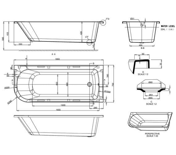 Technical drawing QS-V95434 / R54