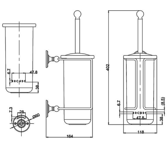Technical drawing QS-V95474 / ARCA8 NKL