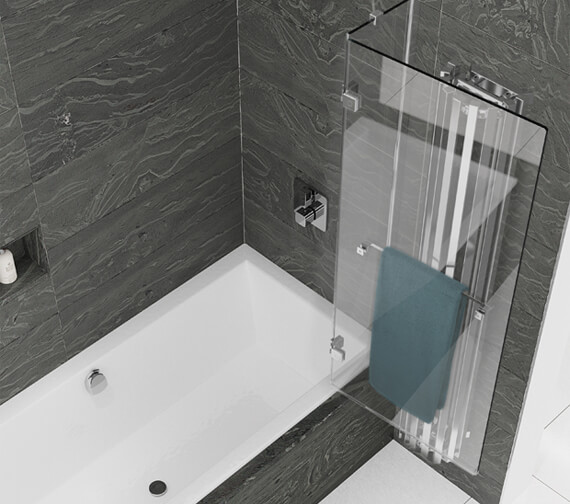 Additional image of Kudos Inspire 8mm Two Panel Outswing Bathscreen