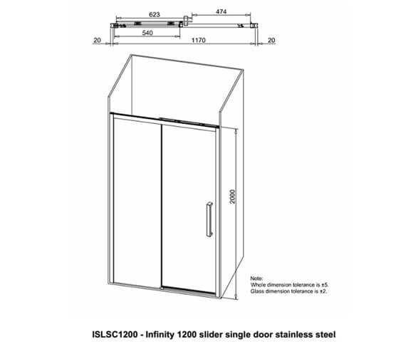 Technical drawing QS-V99556 / ISLSC1200