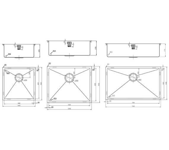 Technical drawing QS-V95400 / ZU/40/U15/COP/600