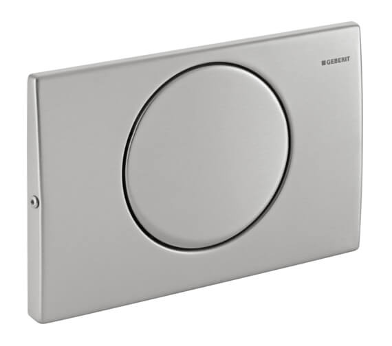 Geberit Delta15 246 x 164mm Single Flush Plate Stainless Steel