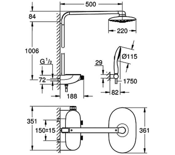 Technical drawing QS-V6821 / 26250LS0