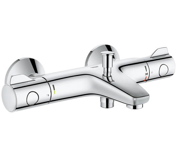Grohe Grohtherm 800mm Thermostatic Wall Mounted Bath And Shower Mixer Tap