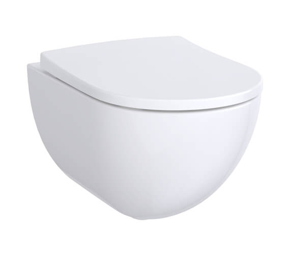 Geberit Acanto 350 x 340mm Rimless Wall Hung Shrouded WC Pan