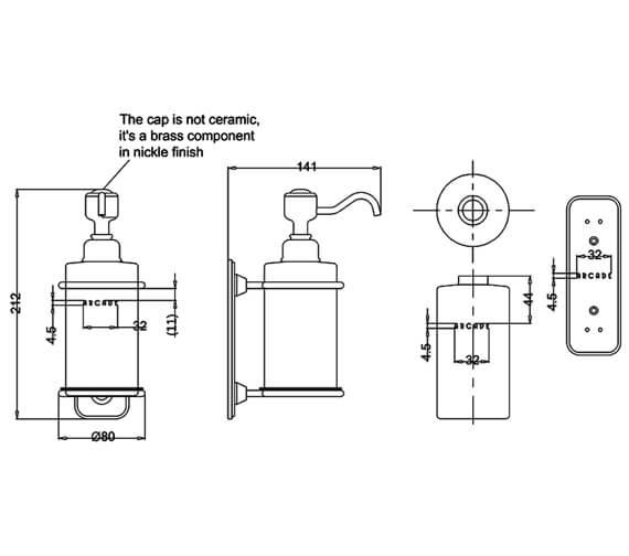 Technical drawing QS-V95477 / ARCA19 NKL