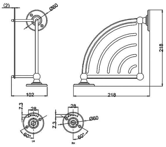Technical drawing QS-V95478 / ARCA22 CHR