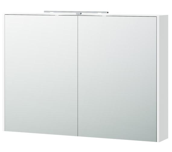 Miller London 100 White 990 x 700mm Double Door Mirror Cabinet