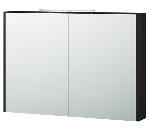 Additional image of Miller London 100 White 990 x 700mm Double Door Mirror Cabinet