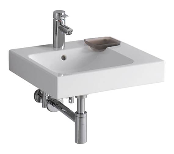 Geberit Icon 500 x 485mm Handrinse Basin With Shelf Surface And Decorative Dish