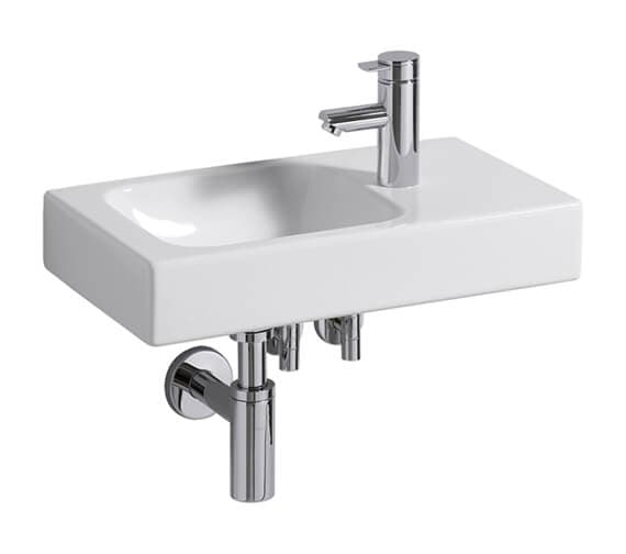 Geberit Icon 530 x 310mm 1 Taphole Handrinse Basin With Shelf Surface