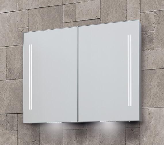 Bathroom Origins Space II 700mm Height Double Door Mirror Cabinet