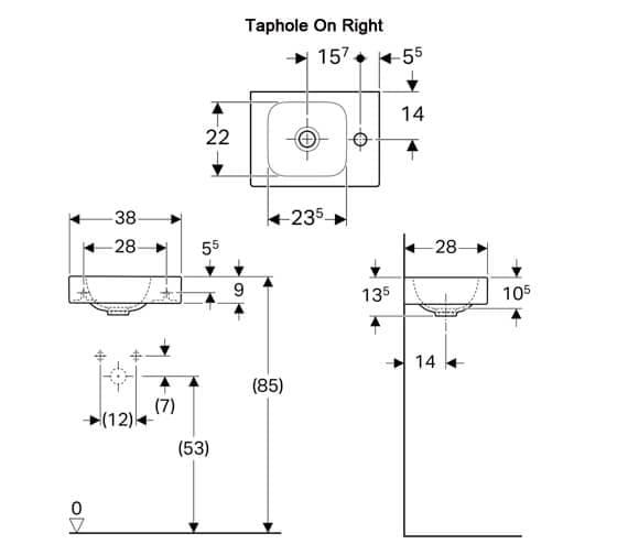 Technical drawing QS-V94658 / 500.460.01.1