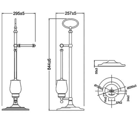 Technical drawing QS-V95482 / ARCA41 NKL