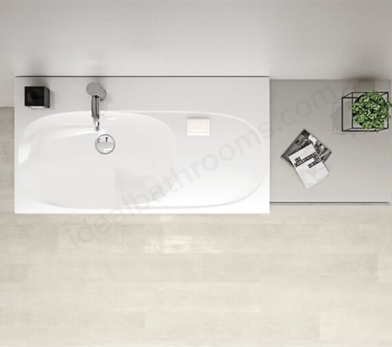 Geberit Acanto 900 x 482mm Washbasin With Right Shelf Surface