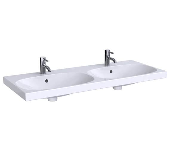 Geberit Acanto 1200 x 482mm Double Washbasin