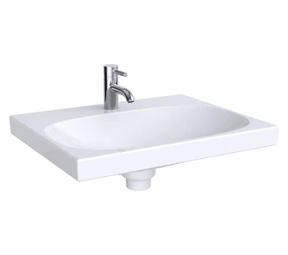 Geberit Acanto 600 x 482mm Single Taphole Washbasin With Hidden Overflow