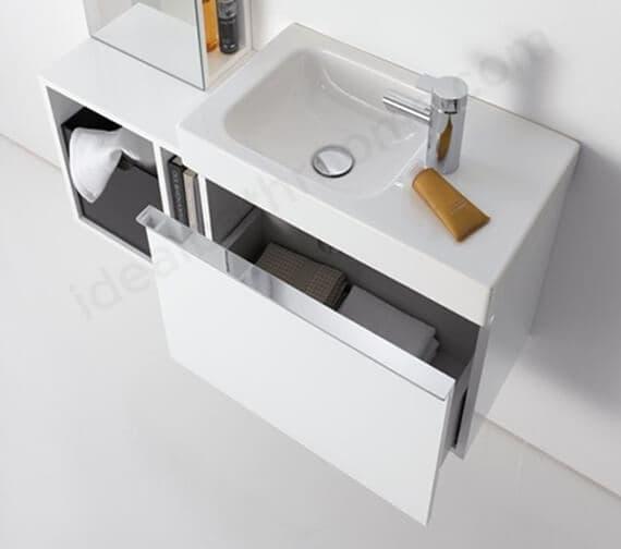 Geberit Icon 520 x 308mm Single Drawer Vanity Unit For Handrinse Basin