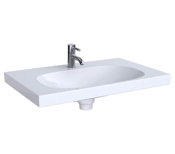 Geberit Acanto 750 x 482mm Single Taphole Washbasin With Shelf Surface