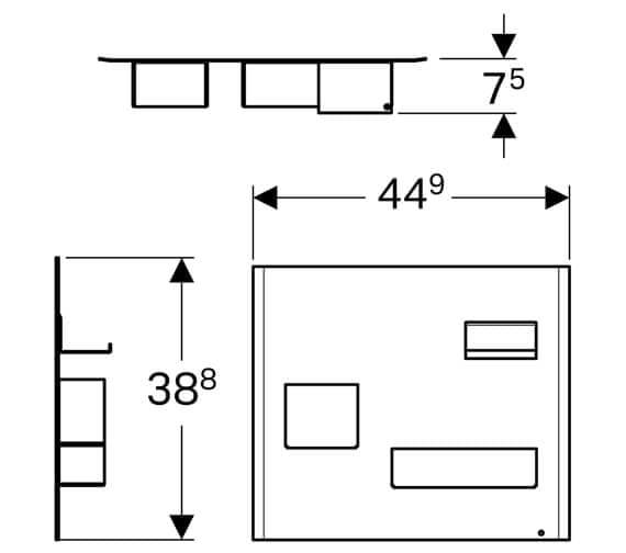 Technical drawing QS-V93761 / 500.649.01.2