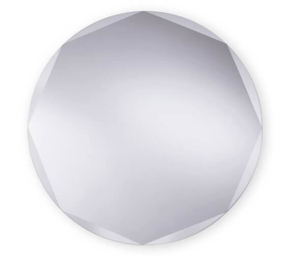 Bathroom Origins Circle Edge 580mm Mirror - B004921