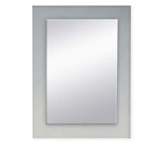 Bathroom Origins Denver 500mm Clear Glass Frame Mirror - 323384