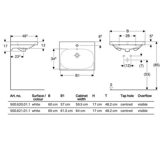 Technical drawing QS-V93762 / 500.620.01.2