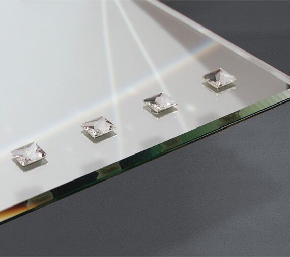 Additional image of Bathroom Origins Decorative Crystalline Mirror - B005874